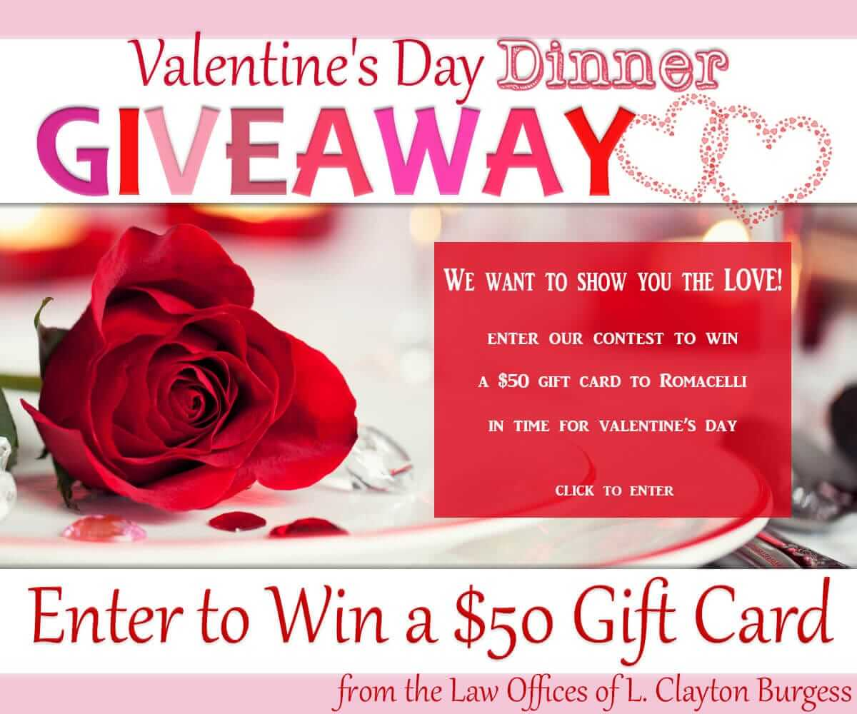 Valentine's Day Dinner Giveaway