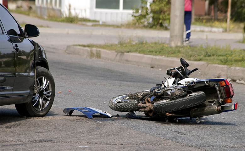 wrecked bike - motorcycle accident attorney