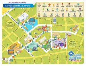 Festival International de Louisiane map