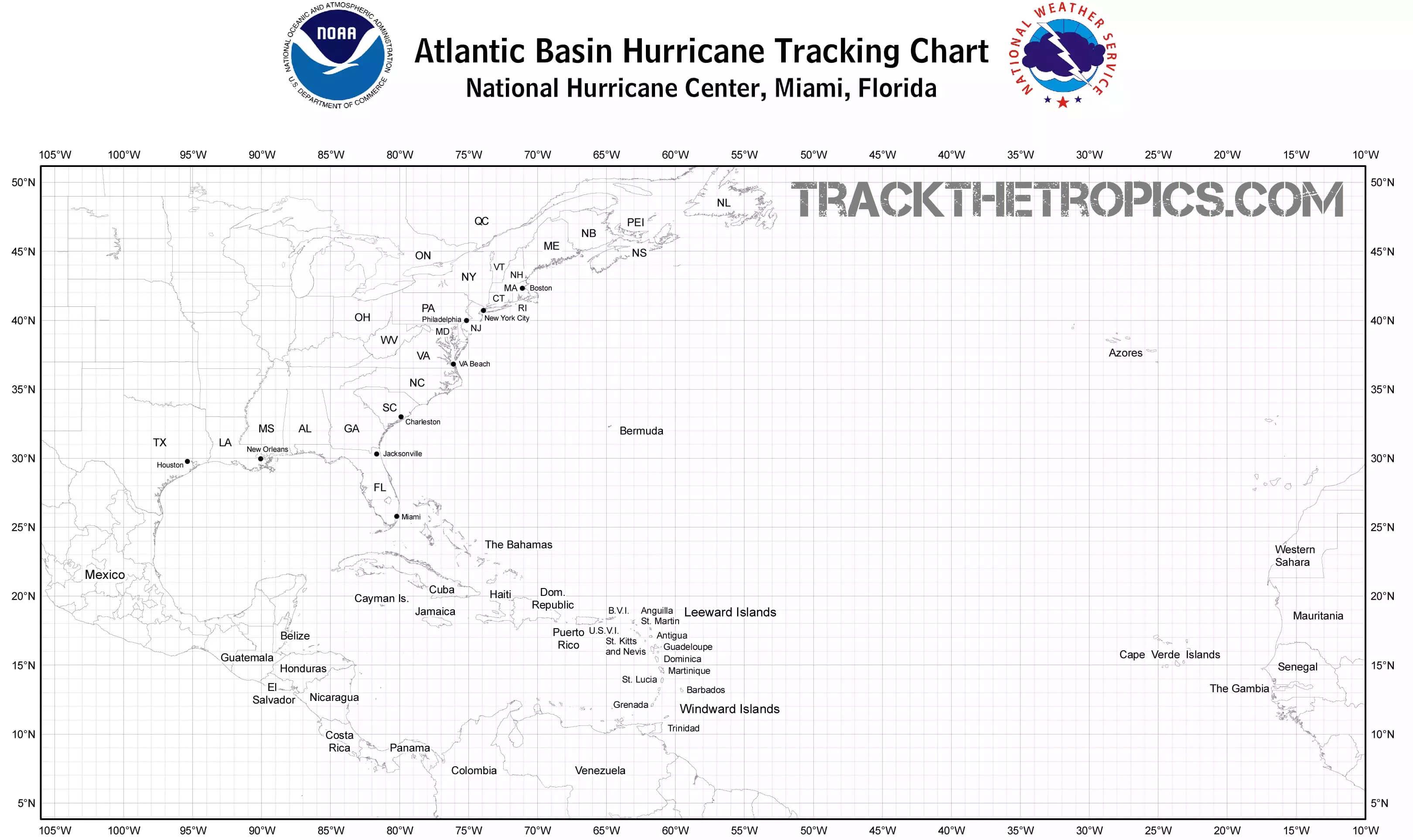 hurricane tracking chart
