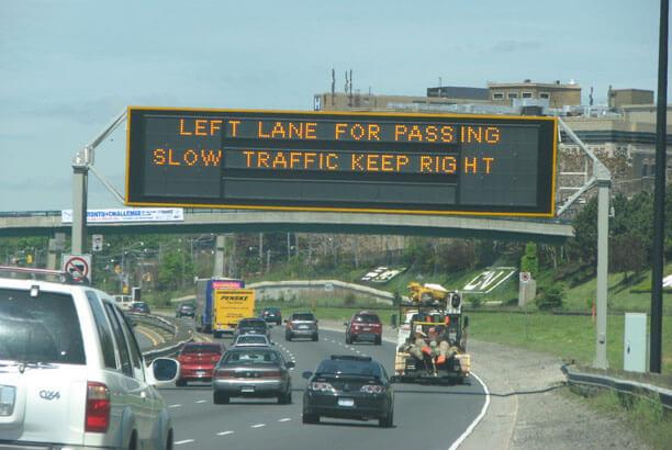 left lane for passing