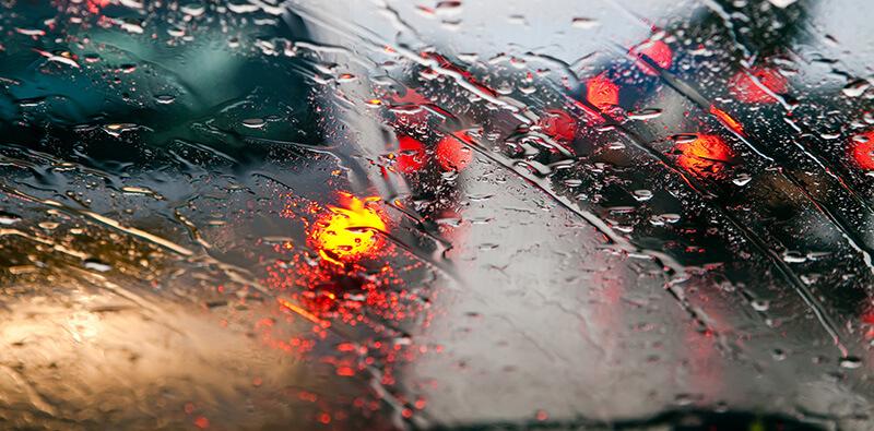 rainy weather windshield